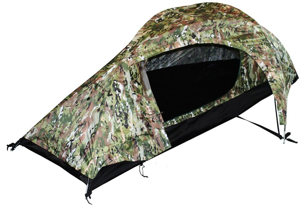 Camo Tent Instant : One man multitarn camo military army tent berth