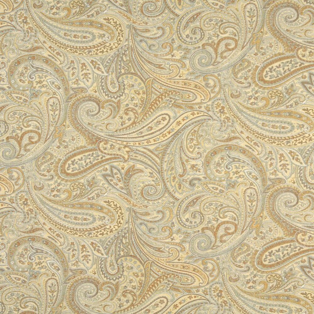 F325 gold blue bronze paisley abstract jacquard upholstery for Upholstery fabric