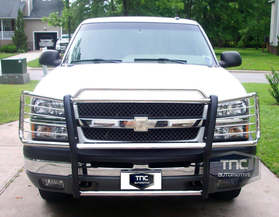 2003 2006 chevy avalanche 1500 no cladding brush grill guard stainless steel ebay. Black Bedroom Furniture Sets. Home Design Ideas