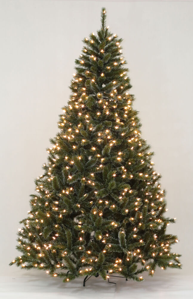 6.5u0026#39; Siberian Pine Artificial Christmas Tree with Clear ...