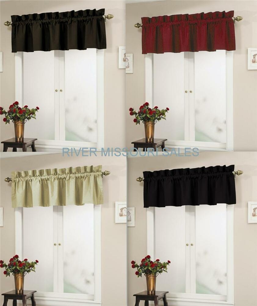 Top it off window valance 72 x 18 in solid colors for 18 x 18 window