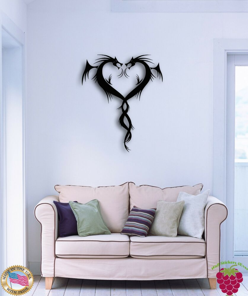 Wall Sticker Dragons Fantasy Cool Modern Decor For Living
