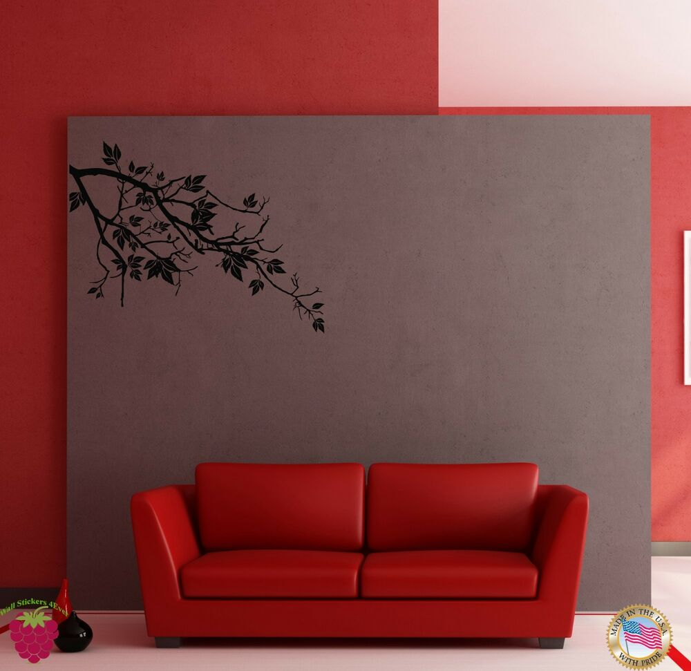 Wall sticker tree branch floral cool modern decor for for Cool wall art for bedroom