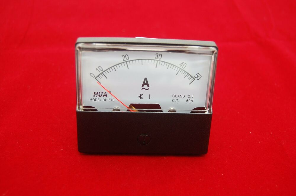 Ac Amp Meter Panel : Pc ac a analog ammeter panel amp current meter
