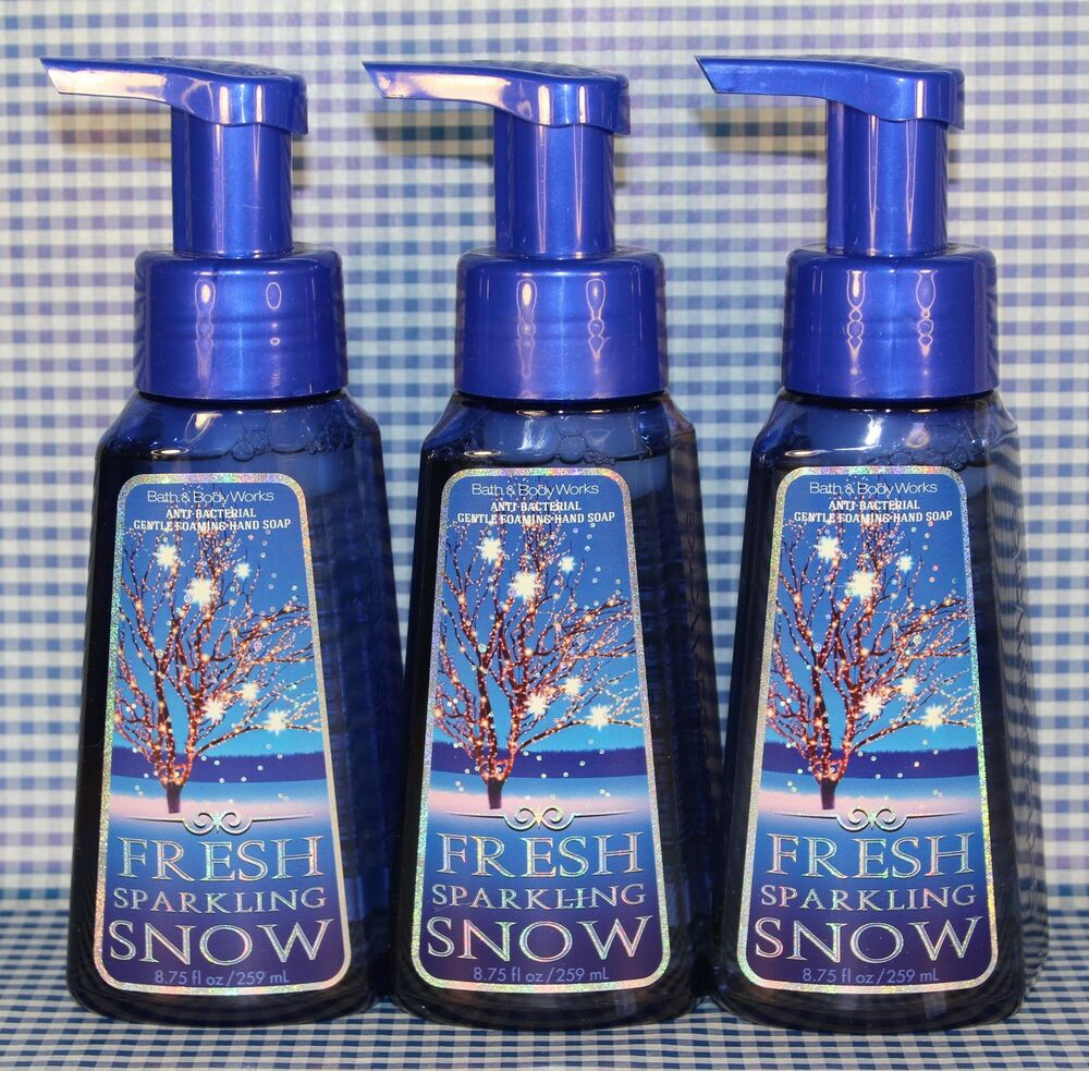 3 Bath Amp Body Works Fresh Sparkling Snow Antibacterial