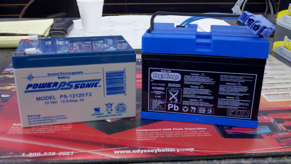 Battery Operated Ride On Toys >> Peg Perego 12 Volt Replacement Battery Kit IAKB0501   eBay