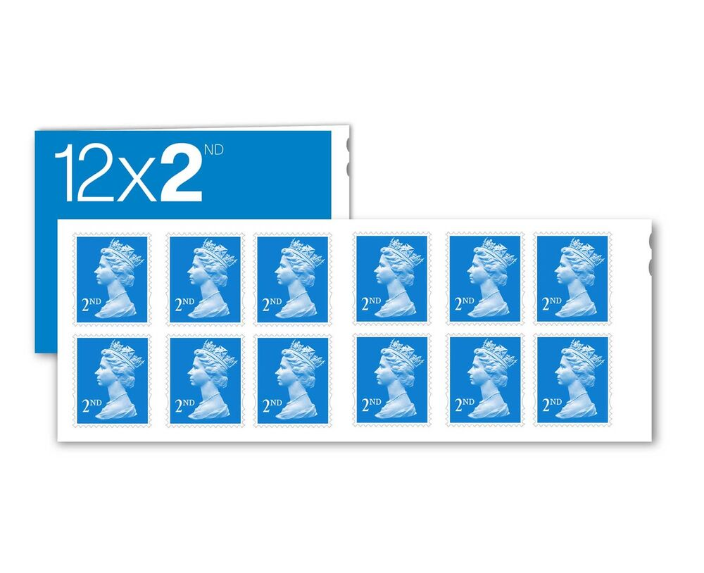 12 X 2nd Second Class Stamps Royal Mail Postage Stamps