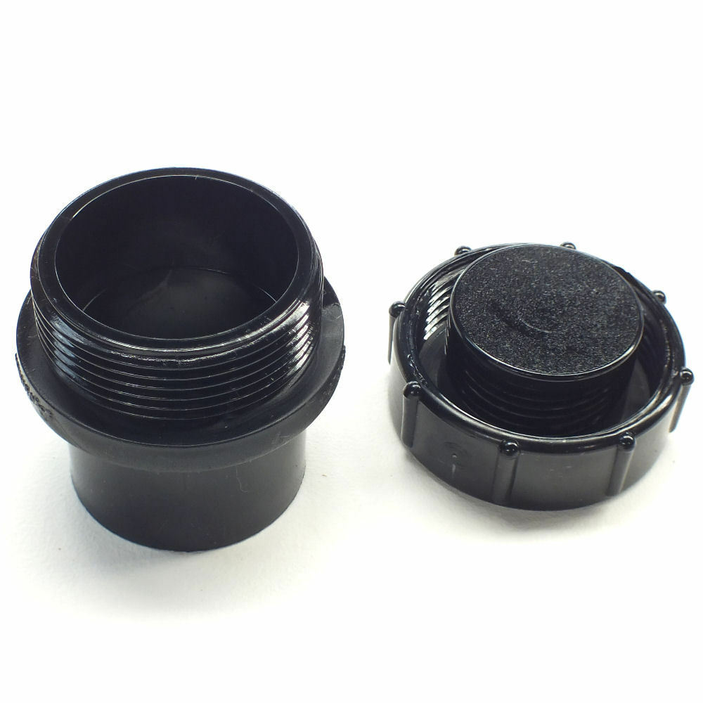 Quot solvent weld pipe threaded screwed access end cap pond