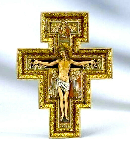 New 11 wall cross crucifix san damiano inri home decor decoration gift ebay Home decor wall crosses