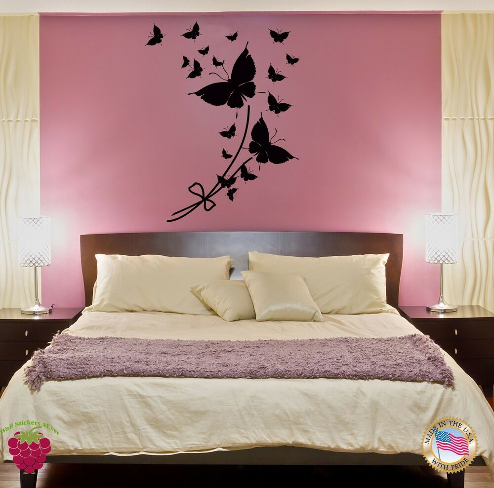 Wall Sticker Butterfly Cool Modern Decor For Bedroom Z1413 Ebay