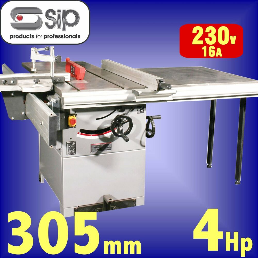 Sip 01446 Pro 315mm 12 Cast Iron Table Saw 240v 4hp Bench Circular Rip Sawbench Ebay