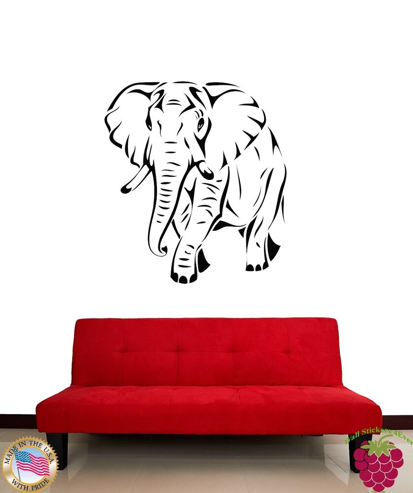 wall sticker african animal elephant cool decor for living