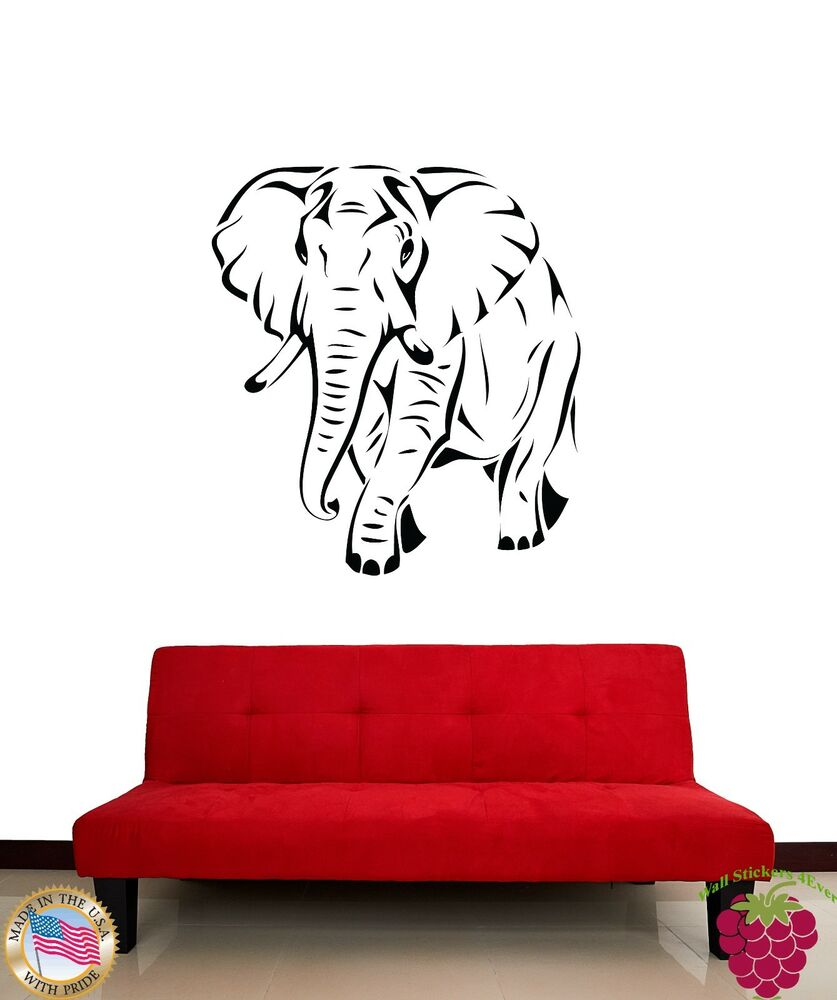 Wall Sticker African Animal Elephant Cool Decor for Living ...
