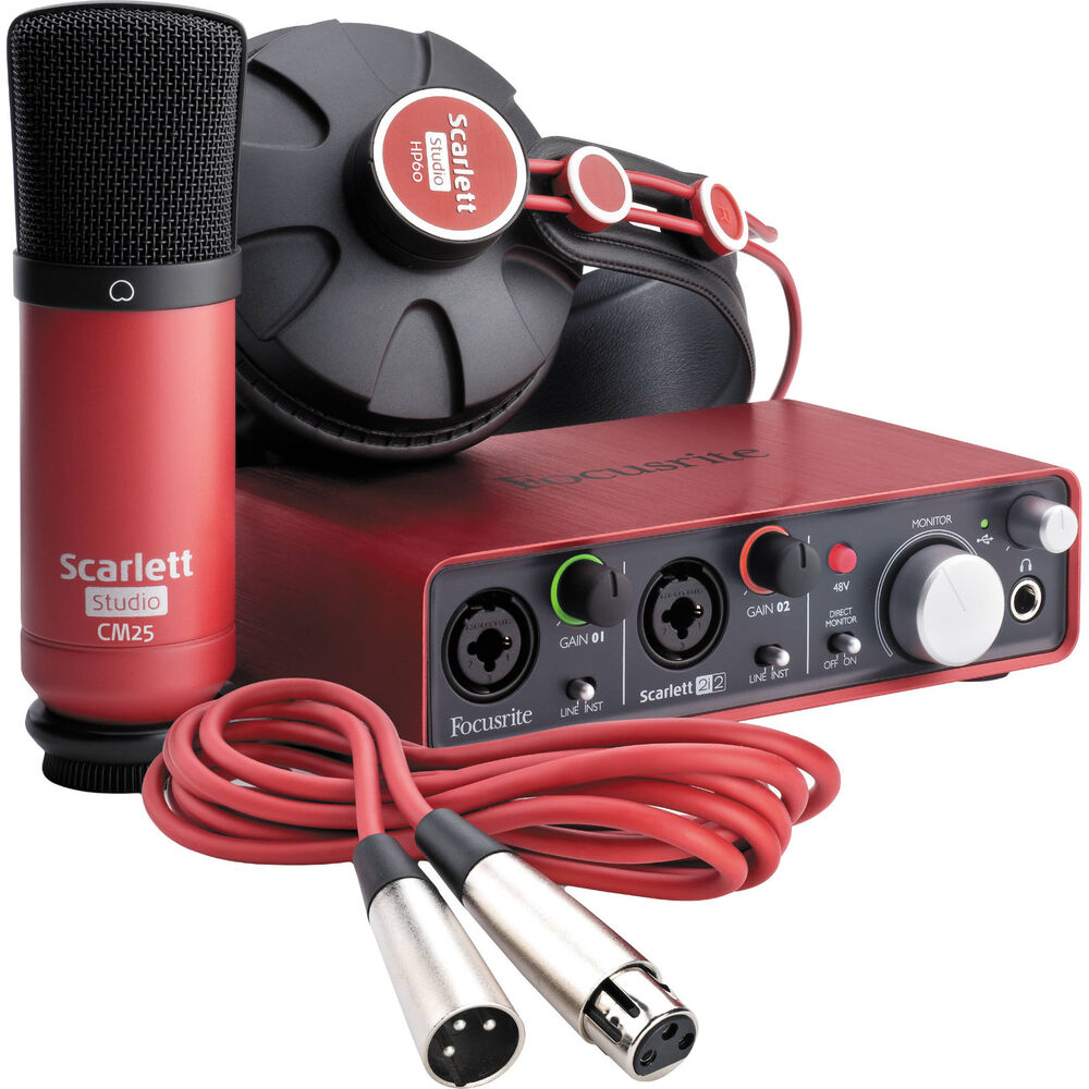 focusrite scarlett studio complete professional recording package 815301008224 ebay. Black Bedroom Furniture Sets. Home Design Ideas