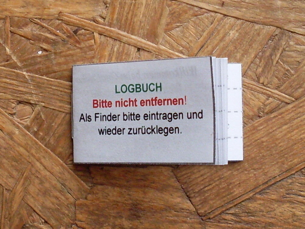 geocaching geocache logbuch f r filmdose 50mm dose neu ebay. Black Bedroom Furniture Sets. Home Design Ideas
