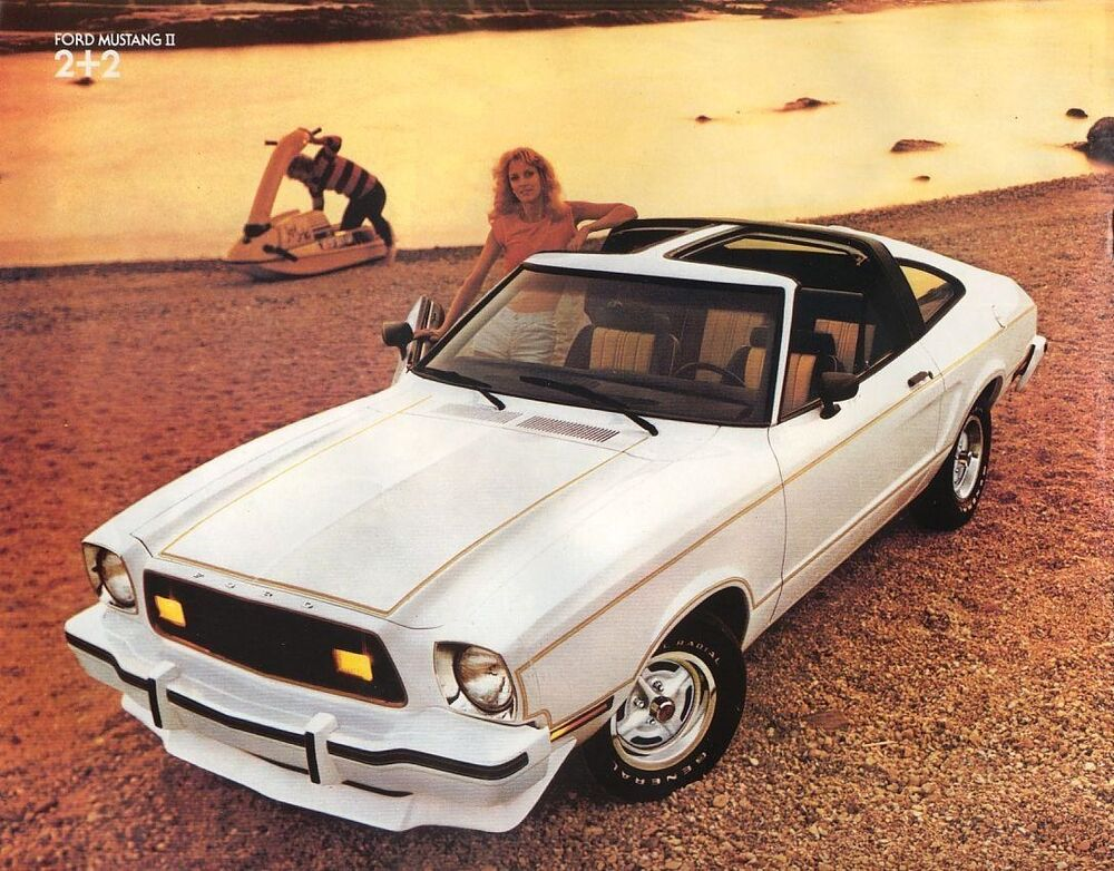 1978 ford mustang ii fastback t tops white refrigerator. Black Bedroom Furniture Sets. Home Design Ideas