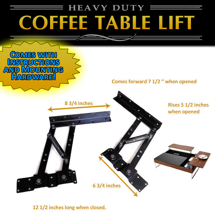 Lift Top Coffee Table Mechanism Diy Hardware Lift Up Furniture Hinge Spring Ebay