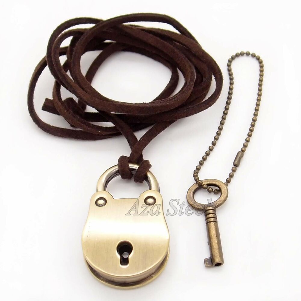 lock key pendant charm necklace ebay