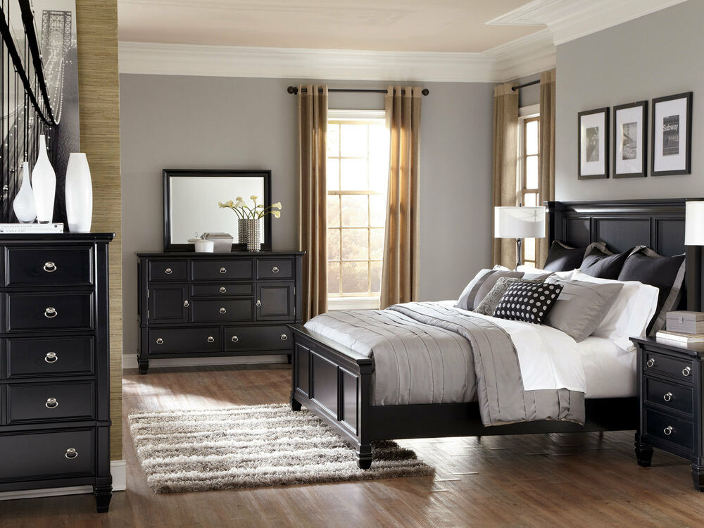 Rockford 5pcs Modern Cottage Queen King Low Profile Panel Bedroom Set Furniture Ebay