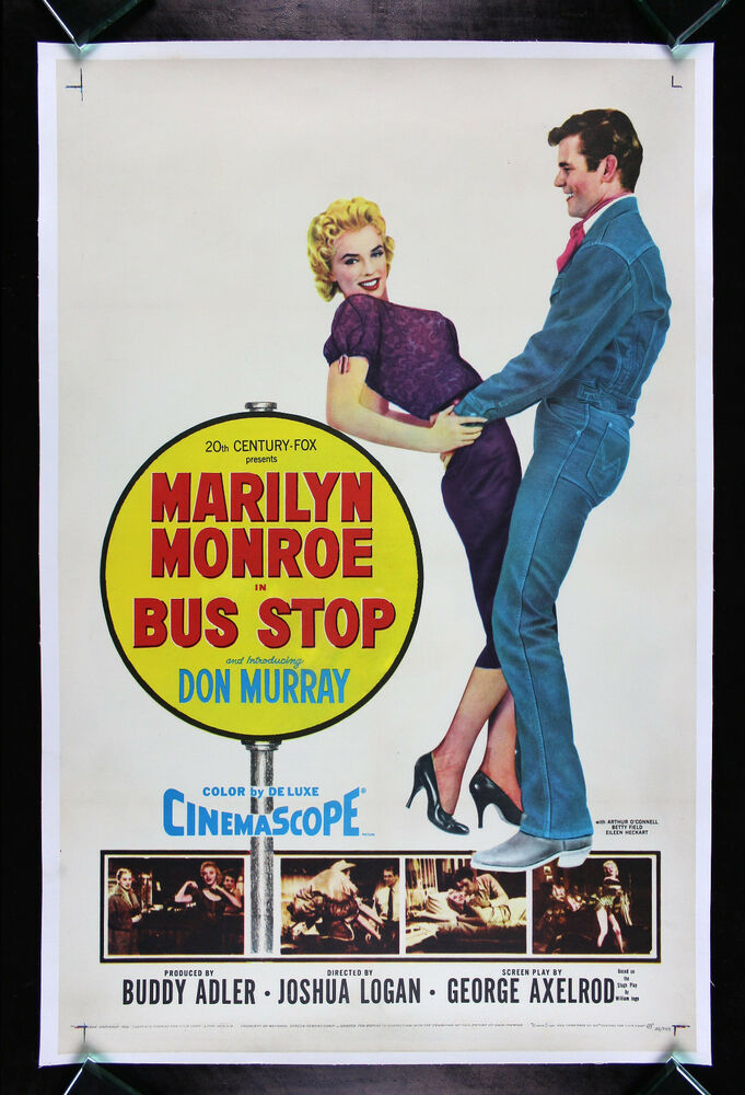 BUS STOP * CineMasterpieces ORIGINAL VINTAGE MARILYN ...