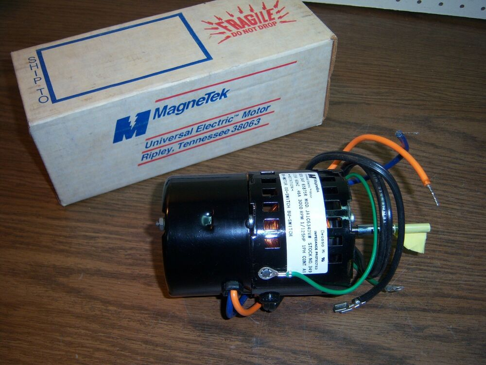 New magnetek 349 motor 1 125hp 3000rpm 115v cwse 1 4 x 2 for 1 20 hp electric motor