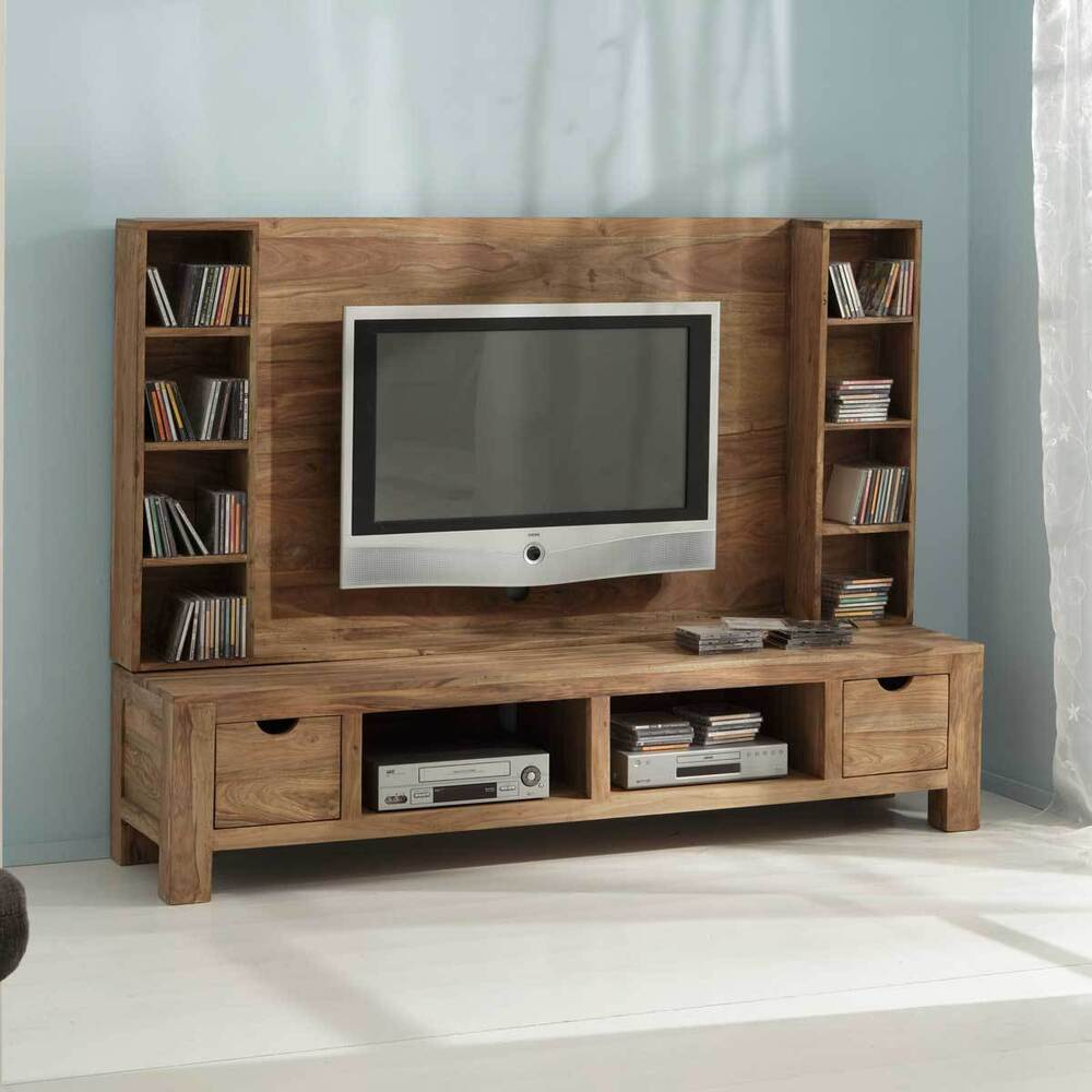 tv wand yoga sheesham massivholz tv element cd regal landhausstil von wolf m bel 4059236056547. Black Bedroom Furniture Sets. Home Design Ideas