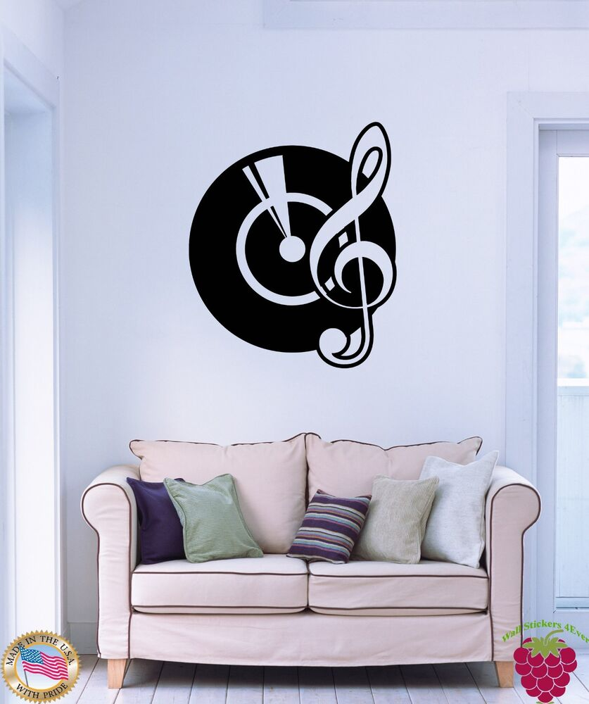 Cool Music Wall Decor : Wall sticker gramophone notes music cool modern decor for