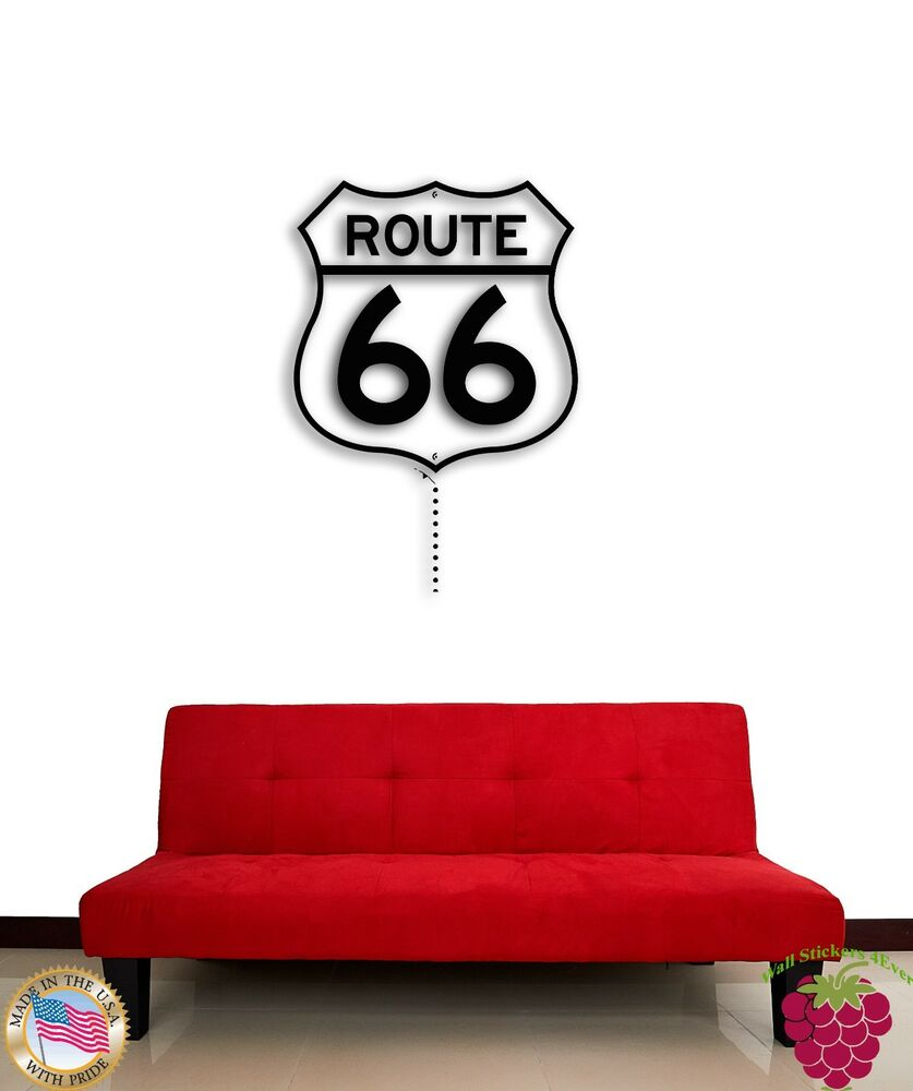 Wall Sticker Route 66 Main Street Of America Mother Road