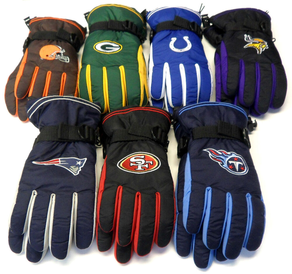 NWT NFL Reebok Team Apparel Men's Winter Gloves Choose