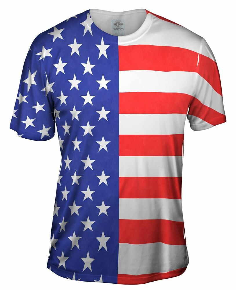 Yizzam american flag new men unisex tee shirt xs s m l for Mens xs golf shirts