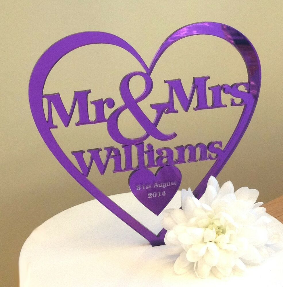wedding cake toppers personalised uk personalised mr amp mrs wedding cake topper ebay 26573