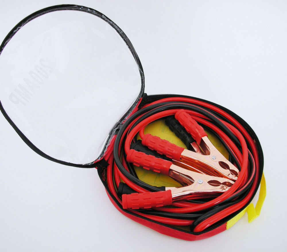 Automatic Jumper Cables : Heavy duty auto car battery jumper booster cables w