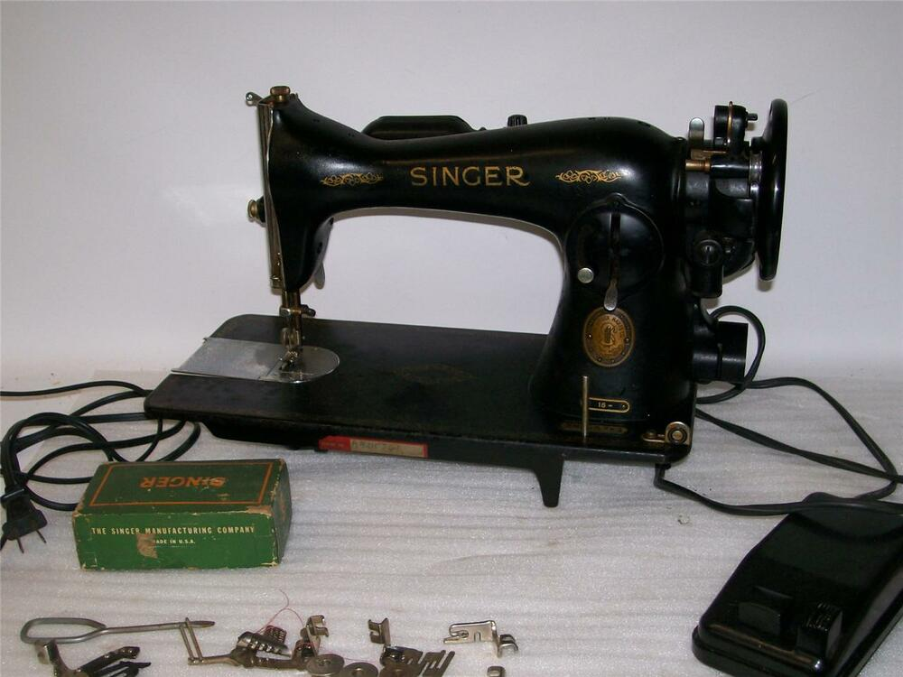 vintage singer sewing machine model 15