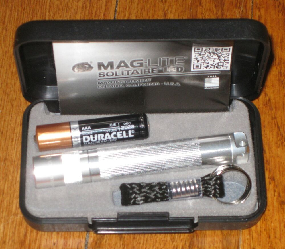 maglite solitaire led silver maglight led mag lite mag. Black Bedroom Furniture Sets. Home Design Ideas