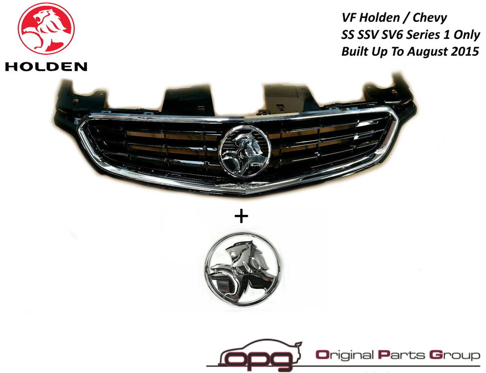 grille boot badge combo vf ss ssv sv6 holden f r sedan. Black Bedroom Furniture Sets. Home Design Ideas