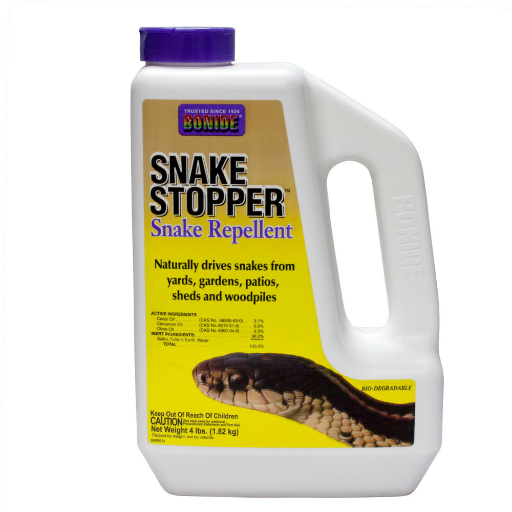 Bonide Snake Stopper Snake Repellent is made from clove oil, cedar oil, cinnamon oil and sulfur. Effectively repels snakes from yards, gardens, sheds, campsites, patios, decks or anywhere they are undesirable; Safe for use where children and pets play when used as directed/5(16).