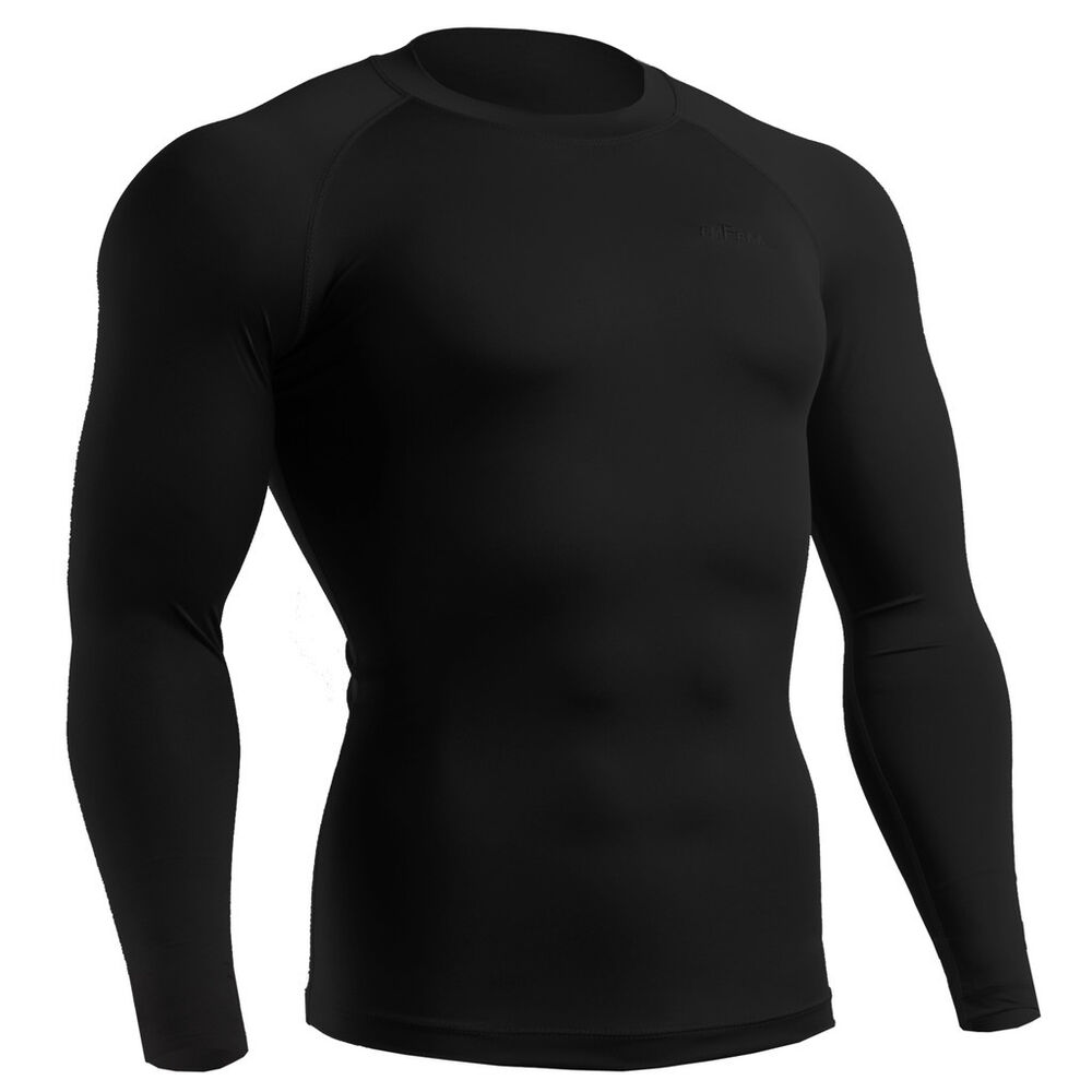 Mens womens winter thermal under compression armour tight for Womens base layer shirt
