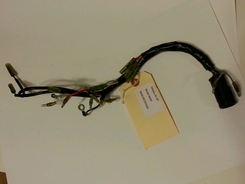 nissan tohatsu wire harness 8 pin end m40d great condition 2002 or earlier ebay
