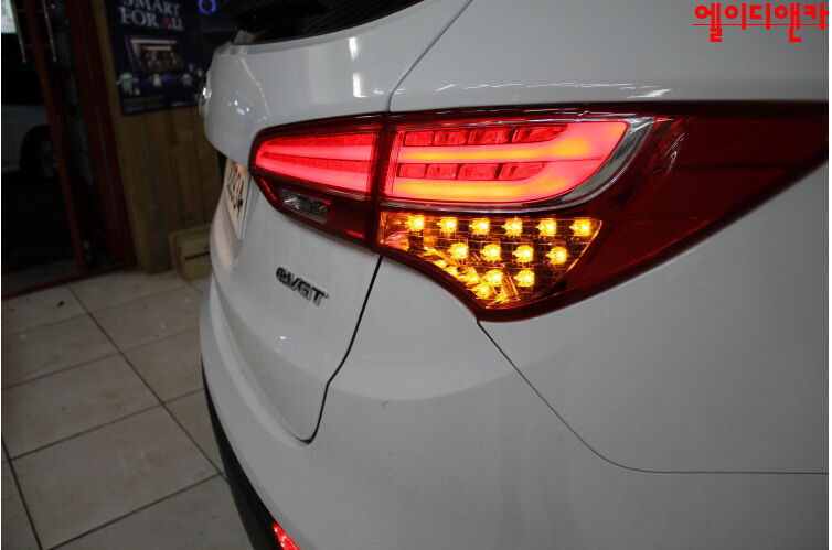 tail lights lamp led turn signal diy kit for 13 2015 hyundai santa fe dm sport ebay. Black Bedroom Furniture Sets. Home Design Ideas