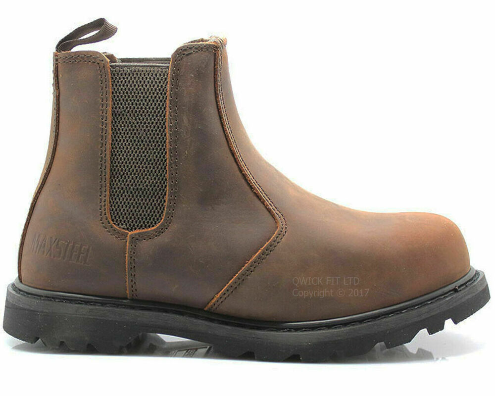 Mens Slip On Chelsea Dealer Safety Boots Work Boots Shoes