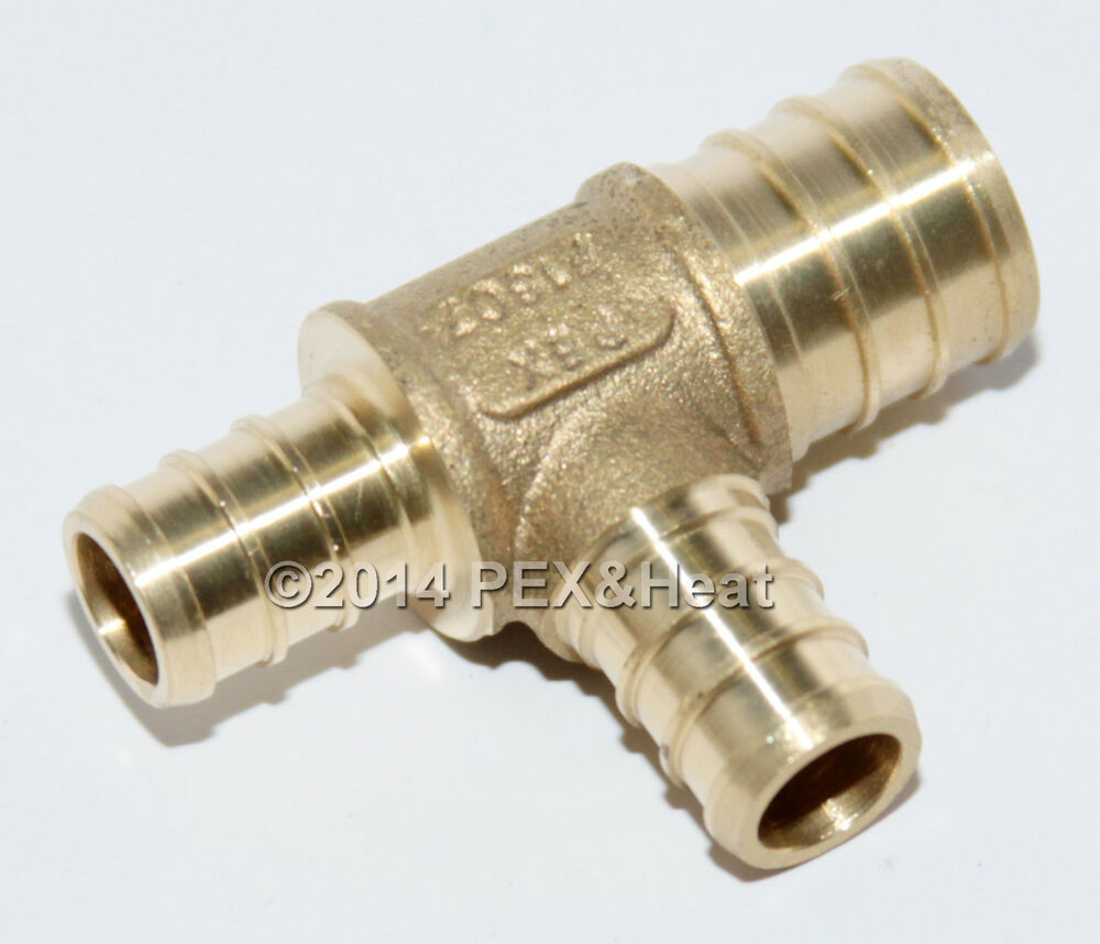 Quot pex tee brass crimping fittings ebay