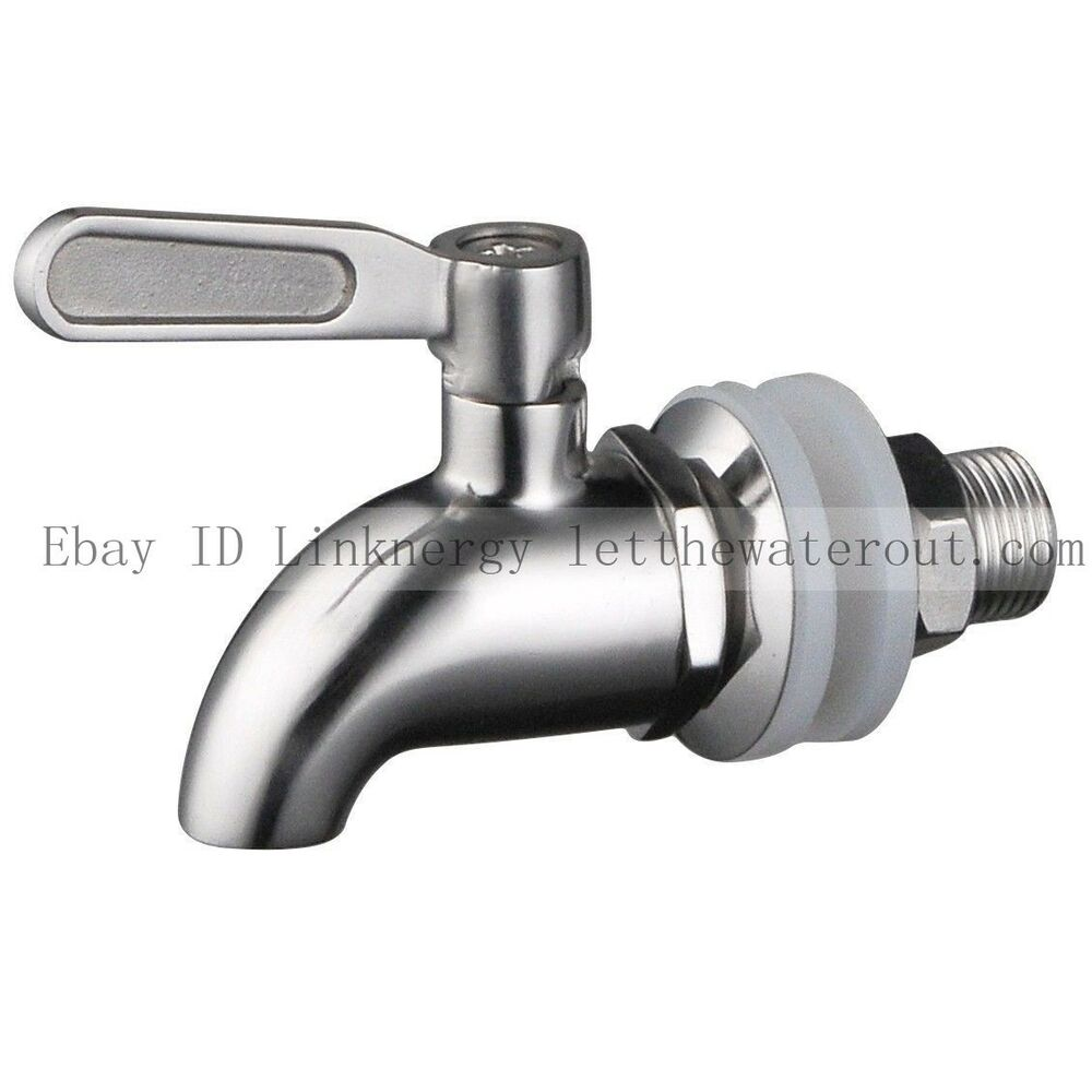 stainless steel works sss010 beverage dispenser wine barrel spigot faucet tap ebay. Black Bedroom Furniture Sets. Home Design Ideas