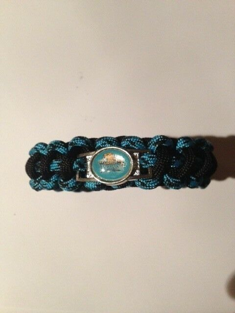custom high school paracord bracelet with shoelace charm