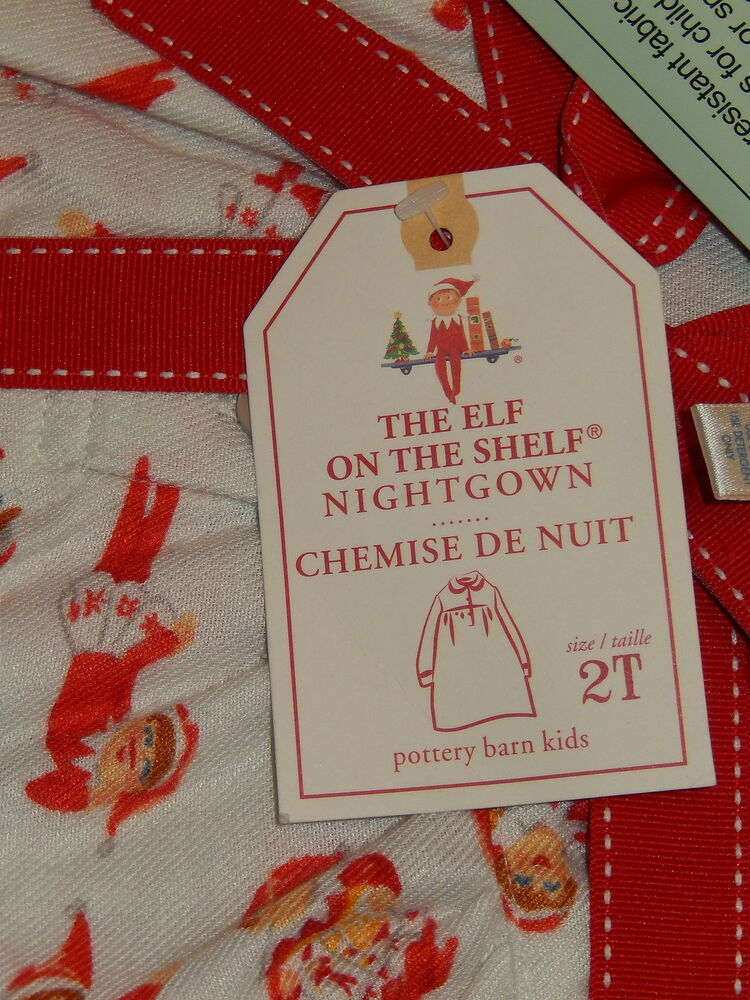 Pottery Barn Kids The Elf On The Shelf Pajamas Size 2t Ebay