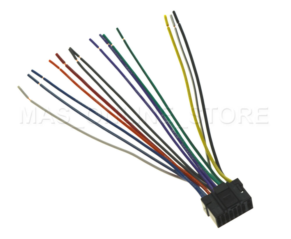 s l1000 wire harness for alpine cde 136bt cde136bt *pay today ships today alpine cde 102 wiring harness at fashall.co