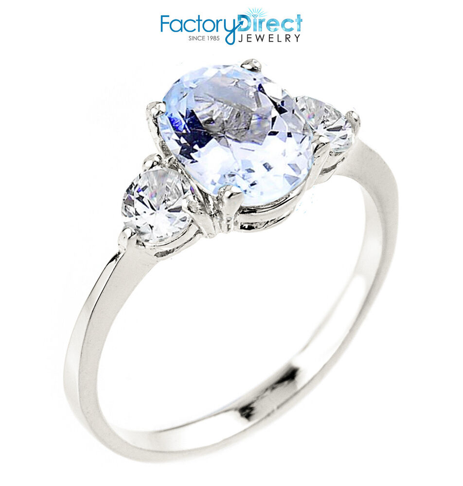 December Birthstone Rings White Gold
