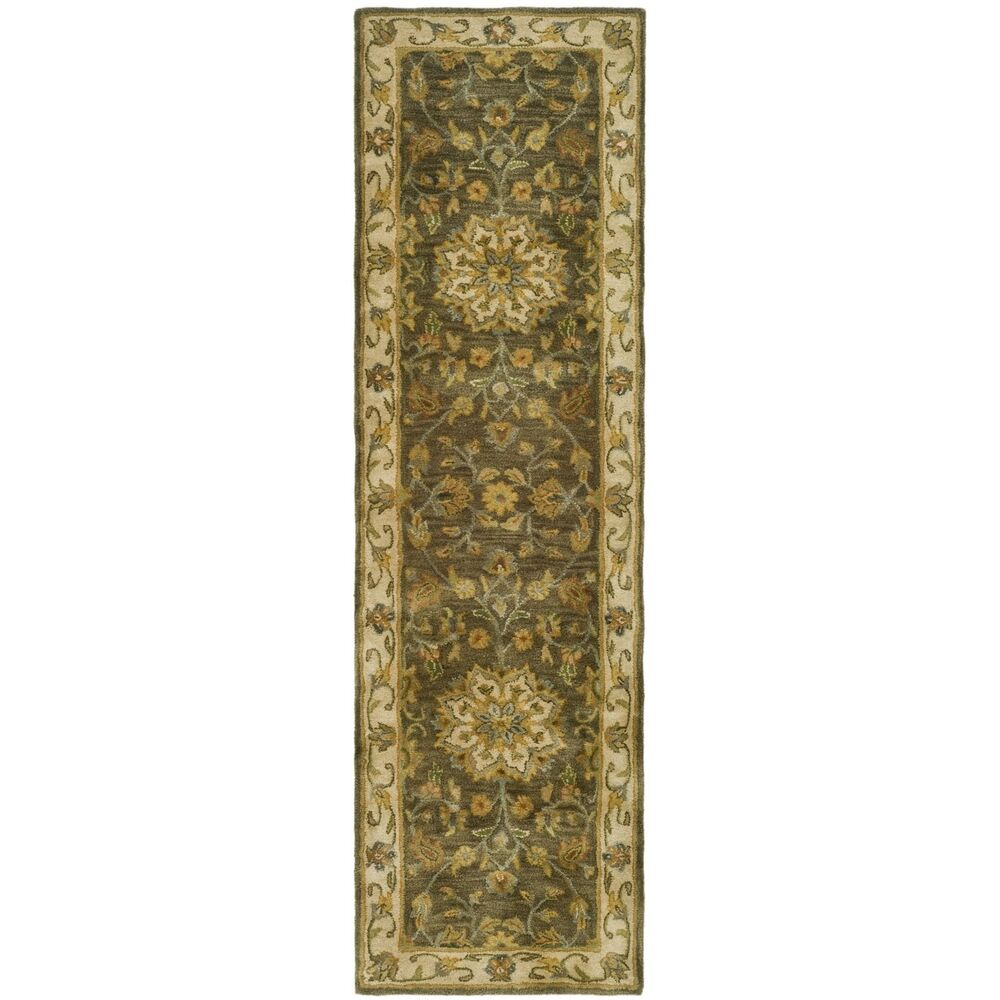 Heritage Hand Tufted Green Taupe Wool Area Rug Runner 2 3