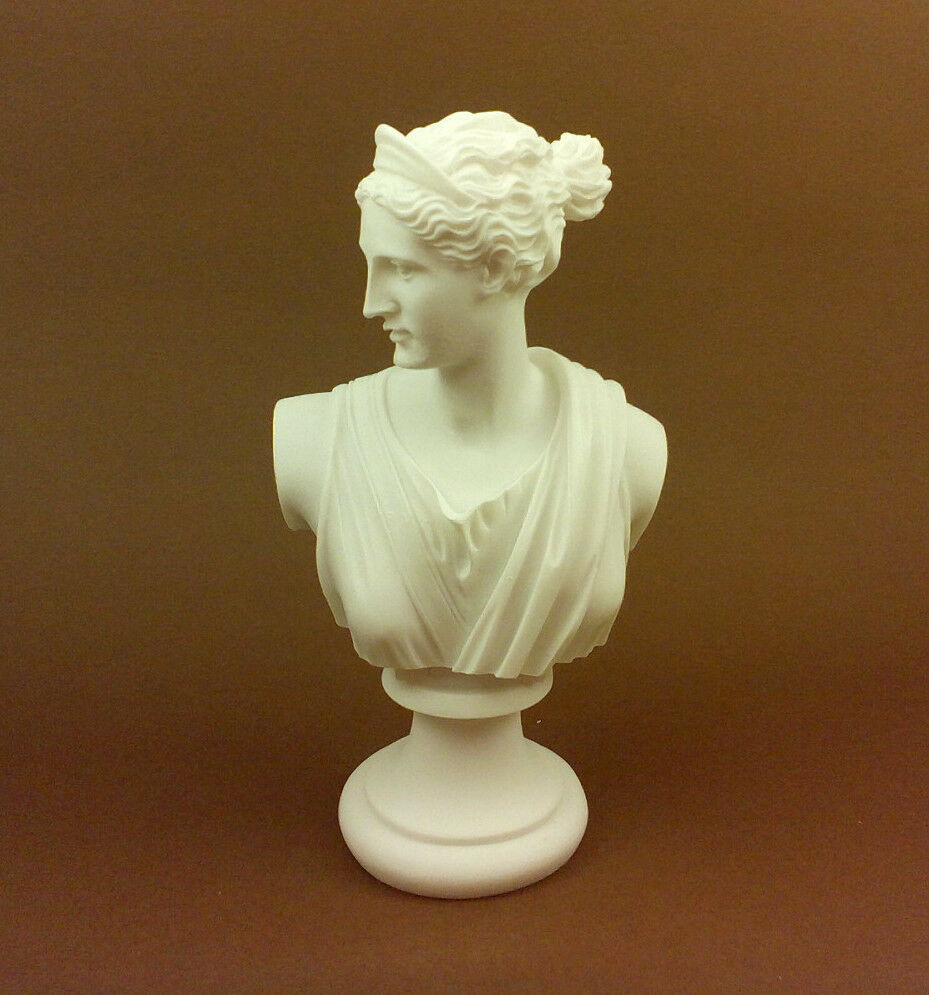artemis diana alabaster sculpture statue bust ancient greek
