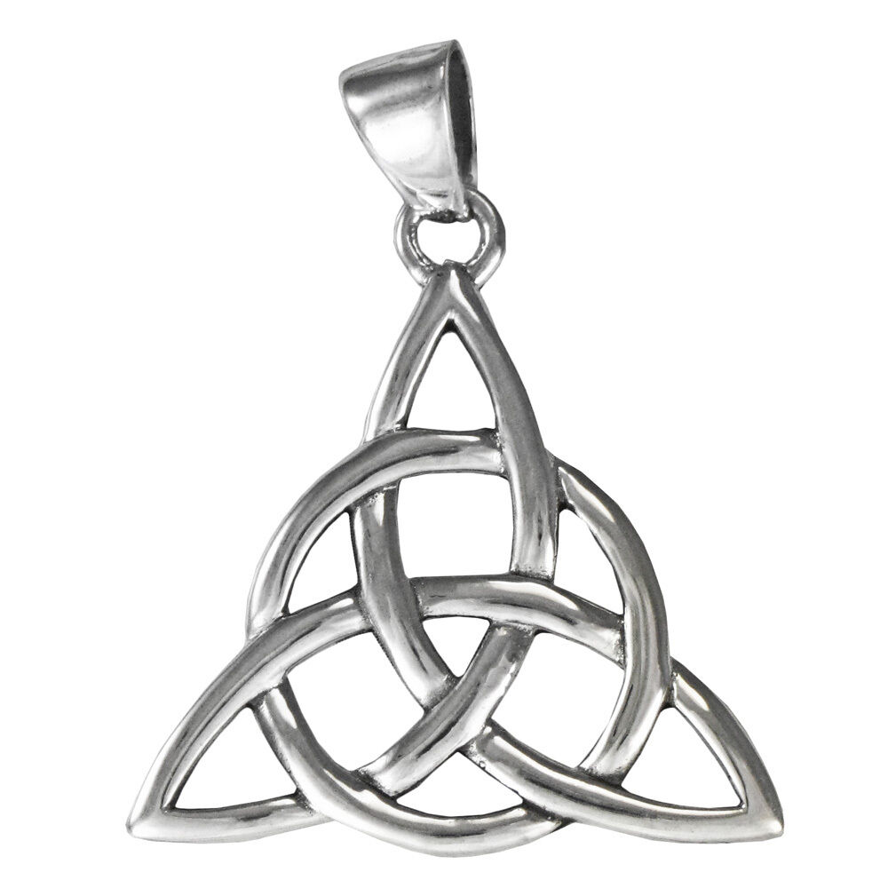 large sterling silver celtic trinity knot triquetra. Black Bedroom Furniture Sets. Home Design Ideas