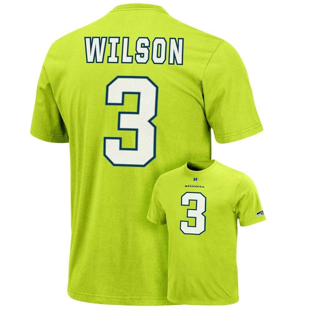 buy popular 34513 bd90b (2018-2019) Seahawks RUSSELL WILSON nfl Jersey Shirt Adult MENS/MEN'S  (L-LARGE) | eBay